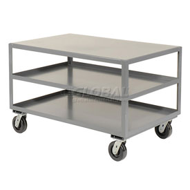 Jamco All Welded Portable Steel Table 3 Shelves LD472 72x36 3000 Lb. Capacity