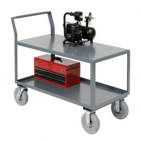 Jamco 2 Shelf All-Welded Heavy Duty Service Cart SL348 48x30 1200 Lb. Capacity