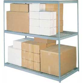 "Wide Span Rack 48""W x 48""D x 60""H With 3 Shelves Wire Deck 1200 Lb Capacity Per Level"