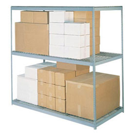 "Wide Span Rack 60""W x 48""D x 84""H With 3 Shelves Wire Deck 1200 Lb Capacity Per Level"