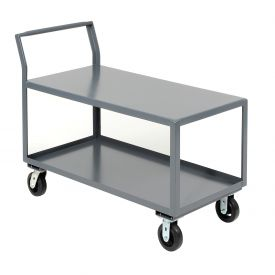 Jamco 2 Shelf All-Welded Heavy Duty Service Cart SL236 36 x 24 2000 Lb. Capacity