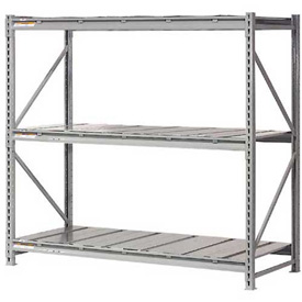 "Extra High Capacity Bulk Rack With Steel Decking 72""W x 48""D x 120""H Starter"