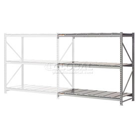 "Extra High Capacity Bulk Rack With Steel Decking 60""W x 24""D x 96""H Add-On"