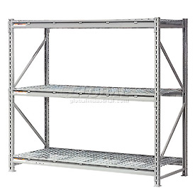 "Extra High Capacity Bulk Rack With Wire Decking 72""W x 36""D x 120""H Starter"