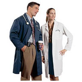 Unisex Lab Coat - Navy, M