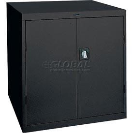 Sandusky Elite Series Counter Height Storage Cabinet EA2R361842 - 36x18x42, Black