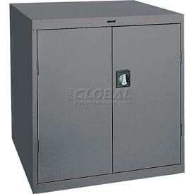 Sandusky Elite Series Counter Height Storage Cabinet EA2R361842 - 36x18x42, Charcoal
