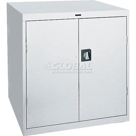Sandusky Elite Series Counter Height Storage Cabinet EA2R361842 - 36x18x42, Gray