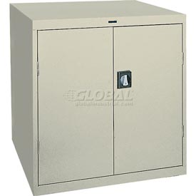 Sandusky Elite Series Counter Height Storage Cabinet EA2R361842 - 36x18x42, Putty