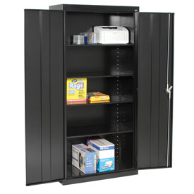 Sandusky Elite Series Storage Cabinet EA4R361878 - 36x18x78, Black