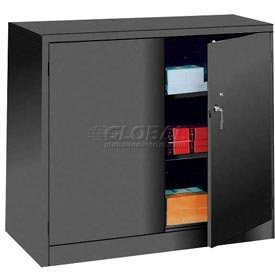 Lyon Storage Cabinet KK1046 Counter Height 36x24x42 - Black