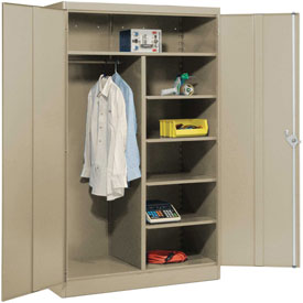 Lyon Combination Storage Cabinet PP1098  - 36x24x78 - Putty