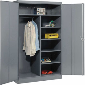 Lyon Combination Storage Cabinet DD1033  - 48x24x78 - Gray
