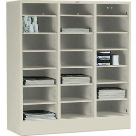 Tennsco Literature Organizer Cabinet 5075 216 - 21 Openning Legal Size- Champagne Putty