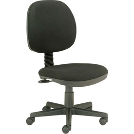 Office Chair - Fabric - Mid Back - Black
