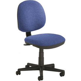 Office Chair - Fabric - Mid Back - Blue