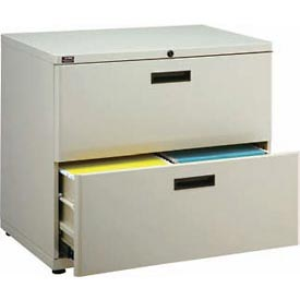 "Extra Value 2 Drawer Lateral File Cabinet 36""W X 26-5/8""H - Putty"