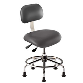 "BioFit Executive Chair Multifunctional Control- Height 18 - 22"" - Navy Fabric - Black Powder Coat"