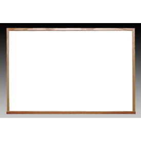 "Ghent 60"" x 48""H Whiteboard with Wood Frame - Non-Magnetic - Includes Marker/Eraser - USA Made"
