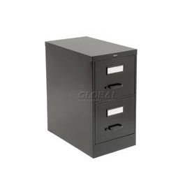 Global™ Vertical File Legal Size 2 Drawer, Black