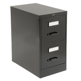 Global™ Vertical File Letter Size 2 Drawer, Black
