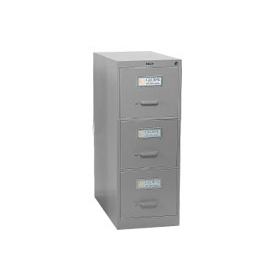 Global™ Vertical File Letter Size 3 Drawer, Light Grey
