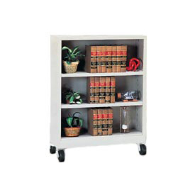 "Sandusky Steel Mobile Bookcase 36""W x 18""D x 48""H - Gray"