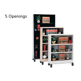 "Sandusky Steel Mobile Bookcase 36""W x 18""D x 78""H - Black"