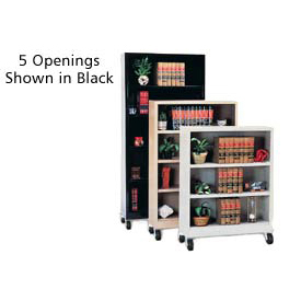 "Sandusky Steel Mobile Bookcase 36""W x 18""D x 78""H - Gray"