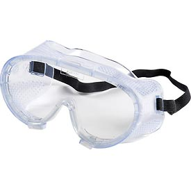 ERB™ 15143 Perforated Impact Resistant Goggles - Anti-Fog, Clear Lens, Black Straps