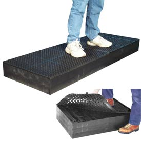 "7/8"" Thick Anti Fatigue Mat - Black 36X96"