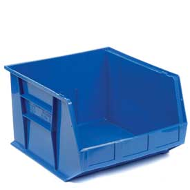 Premium Hanging & Stacking Storage Bin QUS270 16-1/2 x 18 x 11 Blue - Pkg Qty 3