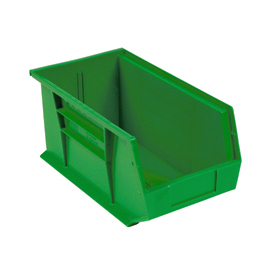 Quantum Plastic Stackable Bin QUS265 8-1/4 x 18 x 9 Green - Pkg Qty 6
