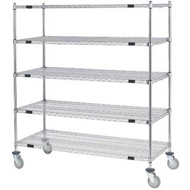 Nexel® Open Sided Wire Exchange Truck 5 Wire Shelves 800 Lb. Cap
