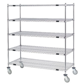 Nexel® Open Sided Wire Exchange Truck 5 Wire Shelves 800 Lb. Cap.