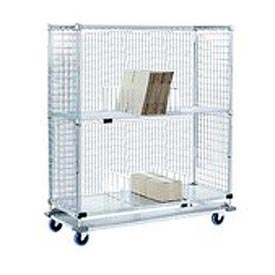 Nexel® Enclosed Wire Exchange Truck 2 Wire 1 Galvanized Shelf 1000 Lb Cap