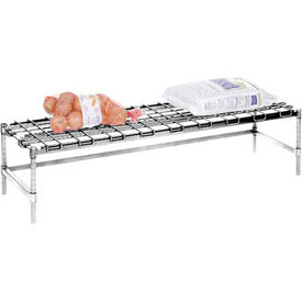"Stationary Dunnage Rack 60""W x 24""D - Poly Z Brite"