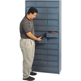 """12""""D Metal Drawer Storage Cabinet with 48 Drawers"""