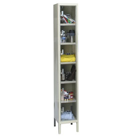 Hallowell USVP1228-6PT Safety-View Locker Six Tier 12x12x12 6 Doors Unassembled Parchment