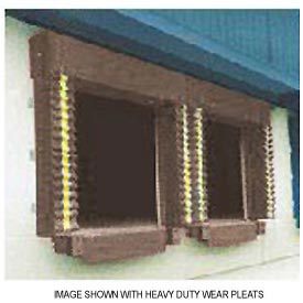 Chalfant Brown Dock Door Seal Model 130 Heavy Duty 40 Ounce 8'W x 9'H by