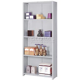 "Lyon Steel Shelving 20 Gauge 48""W x 18""D x 84""H Closed Clip Style 5 Shelf Gy Starter"