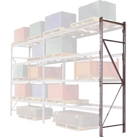 "Pallet Rack Upright Frame - 4"" Channel 48""D x 192""H"