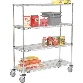 Nexel® E-Z Adjust Wire Shelf Truck 48x18x60 1200 Pound Capacity with Brakes