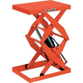 PrestoLifts™ Power Double Scissor Lift Table DXS30-5 Foot Control 500 Lb. Cap.