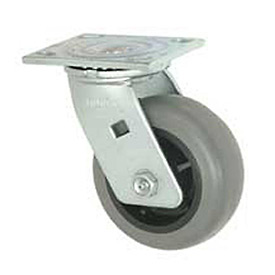 "Faultless Swivel Plate Caster 493-3 3"" TPR Wheel"