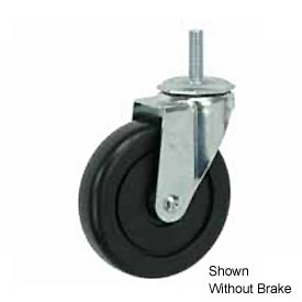 "Faultless Swivel Threaded Stem Caster G493-4RB 4"" TPR Wheel with Brake"