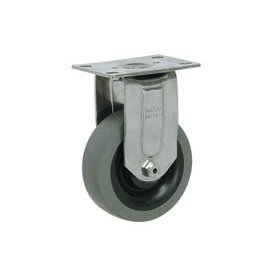 "Faultless Stainless Steel Rigid Plate Caster S8790-4 4"" TPR Wheel"