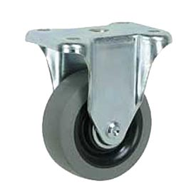 "Faultless Rigid Plate Caster 3491-5 5"" TPR Wheel"