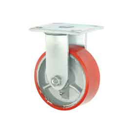 "Faultless Rigid Plate Caster 3438-5 5"" Mold-On Poly Wheel"