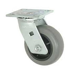 "Faultless Swivel Plate Caster 1491-8 8"" TPR Wheel"